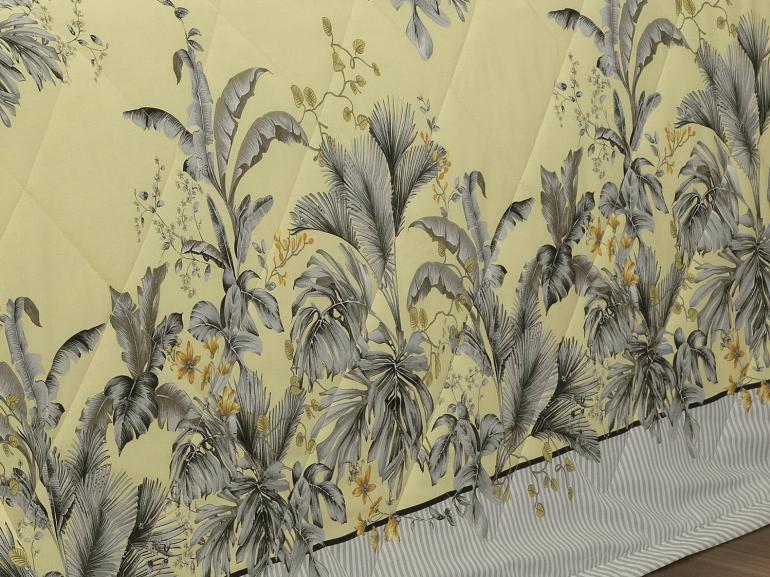 Enxoval King com Cobre-leito 7 peças Percal 200 fios - Native Amarelo - Dui Design