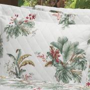 Kit: 1 Cobre-leito Casal + 2 Porta-travesseiros Percal 200 fios - Native Verde - Dui Design
