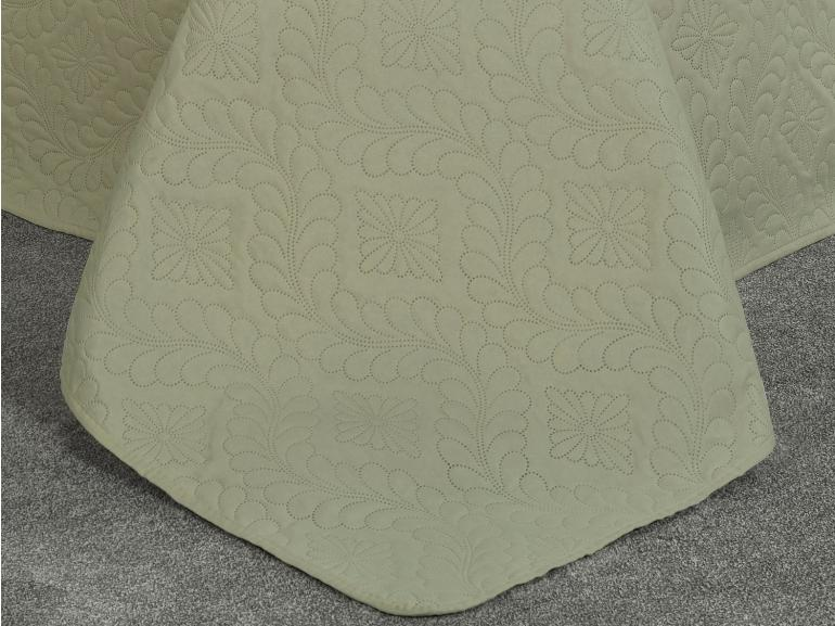 Kit: 1 Cobre-leito Queen Bouti de Microfibra Ultrasonic + 2 Porta-travesseiros - Nevis Marfim - Dui Design