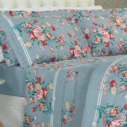 Jogo de Cama Queen 150 fios - Nicete Azul - Dui Design