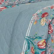 Kit: 1 Cobre-leito King + 2 Porta-travesseiros 150 fios - Nicete Azul - Dui Design