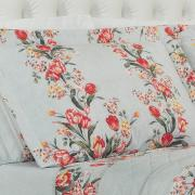 Kit: 1 Cobre-leito King + 2 Porta-travesseiros 150 fios - Nicete Cinza - Dui Design