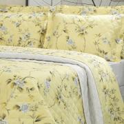 Enxoval Solteiro com Cobre-leito 5 peças 150 fios - Nikita Amarelo - Dui Design
