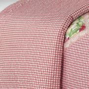 Kit: 1 Cobre-leito Casal Bouti de Microfibra Ultrasonic Estampada + 2 Porta-travesseiros - Nilda Rosa - Dui Design