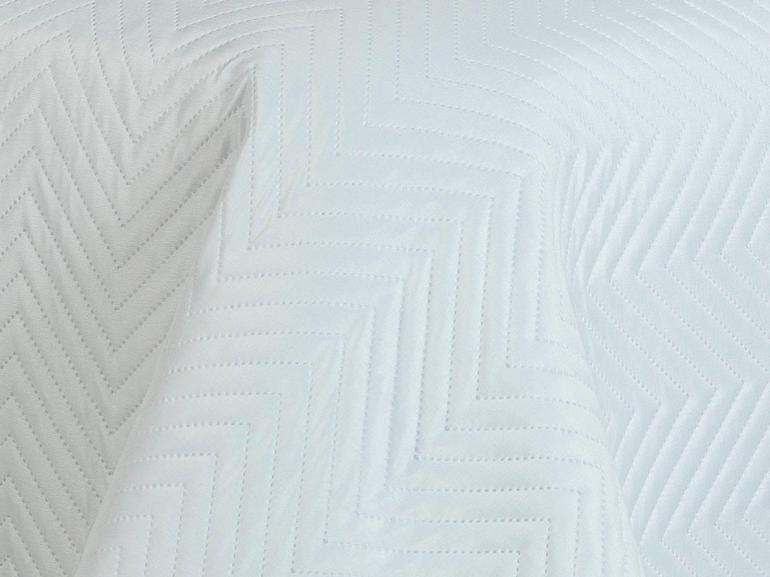 Kit: 1 Cobre-leito Casal Bouti de Microfibra Ultrasonic + 2 Porta-travesseiros - Niros Branco - Dui Design