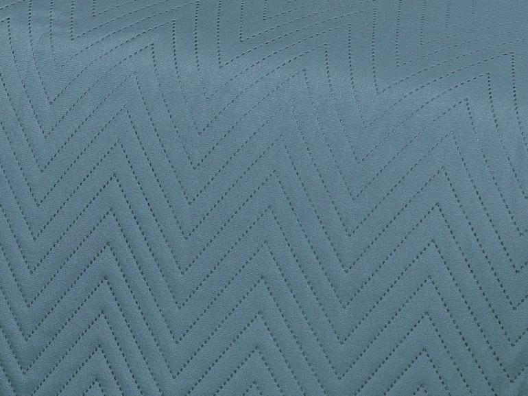 Kit: 1 Cobre-leito Casal Bouti de Microfibra Ultrasonic + 2 Porta-travesseiros - Niros Indigo - Dui Design