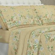Kit: 1 Cobre-leito King + 2 Porta-travesseiros 150 fios - Nivea Taupe - Dui Design