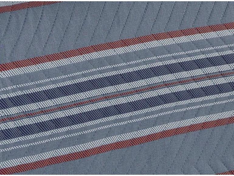 Kit: 1 Cobre-leito Solteiro Bouti de Microfibra Ultrasonic Estampada + 1 Porta-travesseiro - Noble Azul - Dui Design