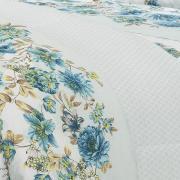 Edredom Solteiro 150 fios - Noemi Azul - Dui Design