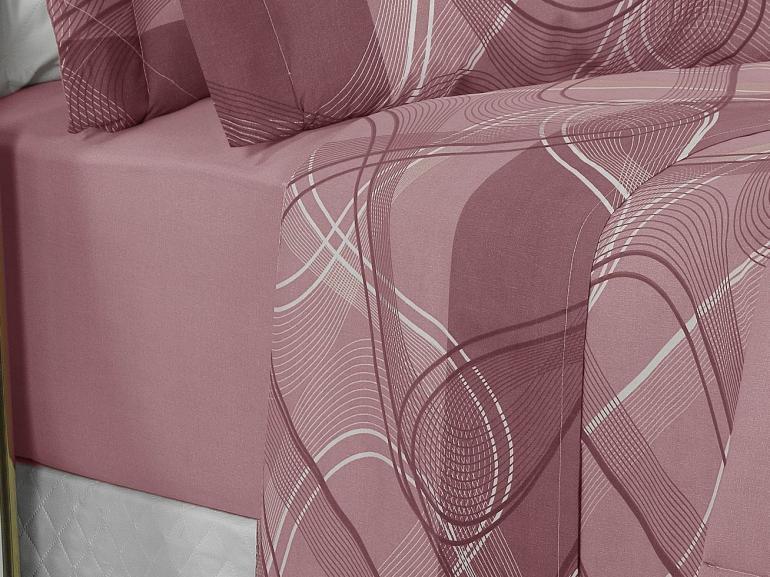 Jogo de Cama Queen Percal 200 fios - Normani Albergine - Dui Design