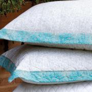 Kit: 1 Cobre-leito Casal + 2 Porta-travesseiro 200 fios 100% Algodão - Oasis - Kacyumara