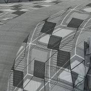 Enxoval King com Edredom 5 peças Percal 180 fios - Oblivion Cinza - Dui Design