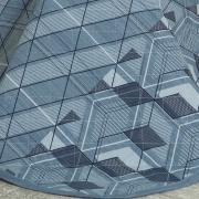 Enxoval King com Cobre-leito 7 peças 180 fios - Oblivion Indigo - Dui Design
