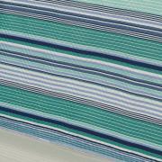 Kit: 1 Cobre-leito Queen Bouti de Microfibra Ultrasonic Estampada + 2 Porta-travesseiros - Onix Azul - Dui Design