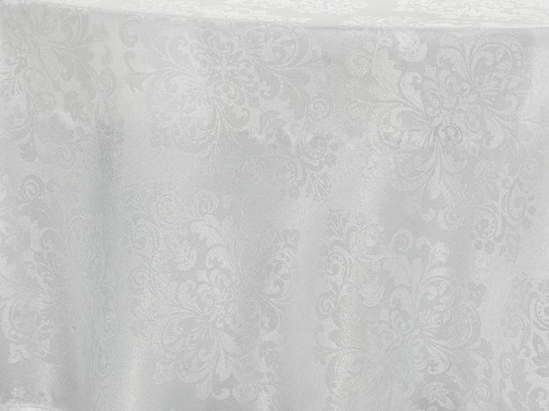 Toalha de Mesa Fácil de Limpar Redonda 220cm - Ornato Branco - Dui Design