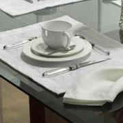 Jogo Americano 4 Lugares (4 peças) Fácil de Limpar 35x50cm - Ornato Branco - Dui Design