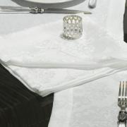 Kit: 4 Guardanapos 50x50cm - Ornato Branco - Dui Design