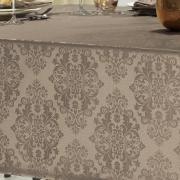 Toalha de Mesa Fácil de Limpar Retangular 8 Lugares 160x270cm - Ornato Noz Moscada - Dui Design