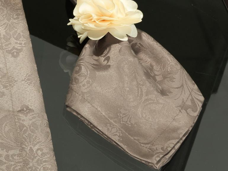 Kit: 4 Guardanapos 50x50cm - Ornato Noz Moscada - Dui Design