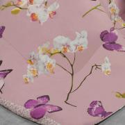 Edredom Solteiro Percal 200 fios - Orquidarium Rosa Velho - Dui Design