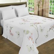 Cobertor Avulso Queen Flanelado com Estampa Digital - Orquideas - Dui Design
