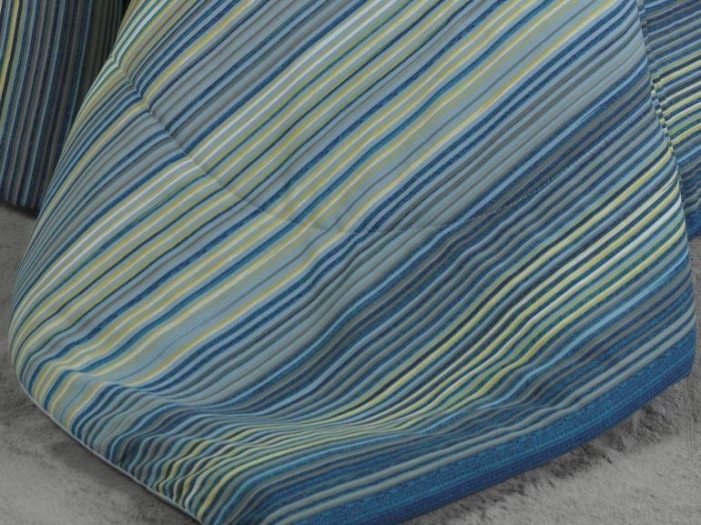 Jogo de Cama Queen Percal 180 fios - Osaka Azul - Dui Design