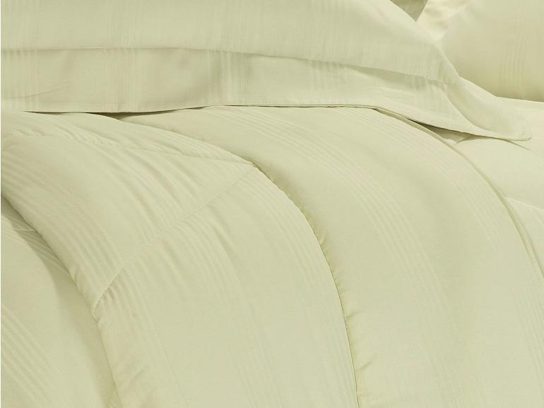 Enxoval Casal com Edredom 5 peças Cetim 300 fios - Ottawa Marfim - Dui Design