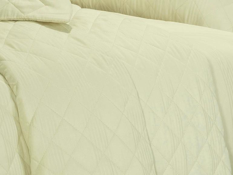 Enxoval Casal com Cobre-leito 7 peças Cetim 300 fios - Ottawa Marfim - Dui Design