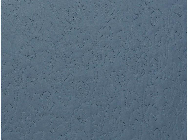 Kit: 1 Cobre-leito Solteiro Bouti de Microfibra Ultrasonic + 1 Porta-travesseiro - Palace Indigo - Dui Design