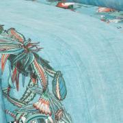 Kit: 1 Cobre-leito King + 2 Porta-travesseiros 150 fios - Pamela Azul - Dui Design