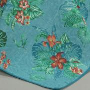 Kit: 1 Cobre-leito King Bouti de Microfibra Ultrasonic Estampada + 2 Porta-travesseiros - Panama Azul - Dui Design
