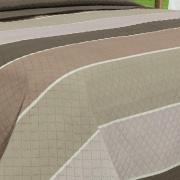 Kit: 1 Cobre-leito Casal Bouti de Microfibra Ultrasonic Estampada + 2 Porta-travesseiros - Paolo Castanho - Dui Design