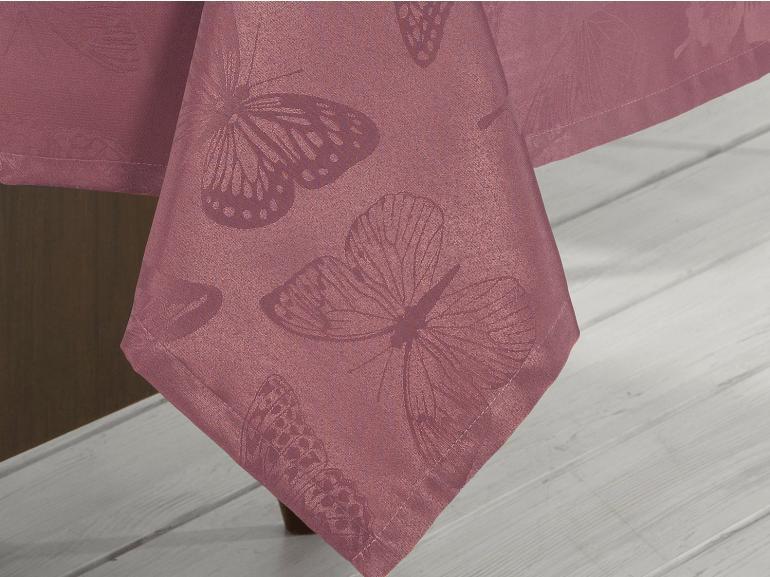 Toalha de Mesa Fácil de Limpar Retangular 6 Lugares 160x220cm - Papillon Cassis - Dui Design