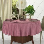 Toalha de Mesa Fácil de Limpar Redonda 220cm - Papillon Cassis - Dui Design