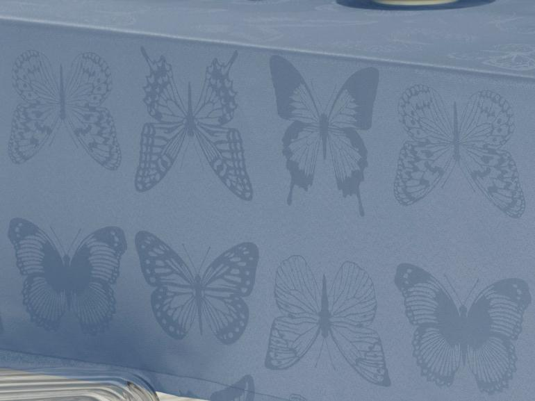 Toalha de Mesa Fácil de Limpar Retangular 8 Lugares 160x270cm - Papillon Jeans - Dui Design