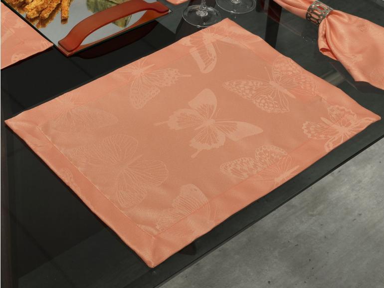 Jogo Americano 4 Lugares (4 peças) Fácil de Limpar 35x50cm - Papillon Salmão - Dui Design