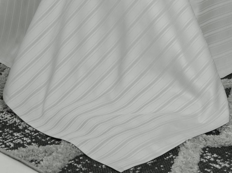 Jogo de Cama Queen Cetim 300 fios - Paris Cinza - Dui Design