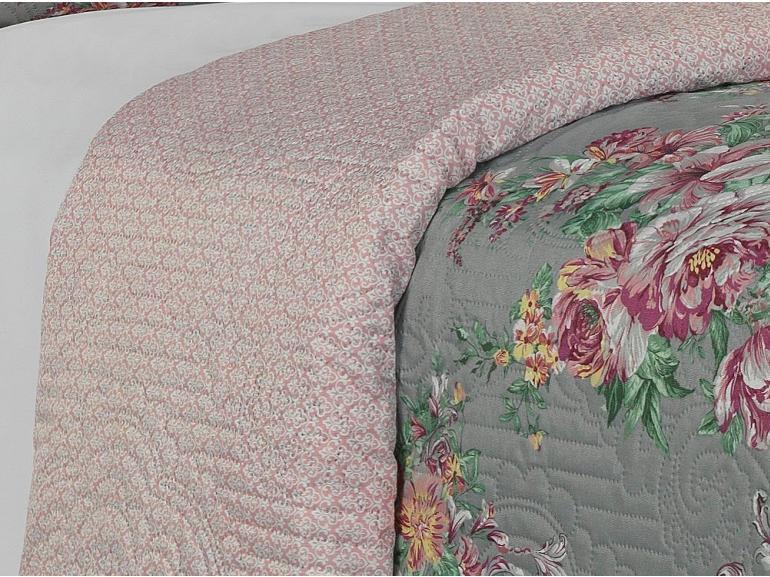 Kit: 1 Cobre-leito Casal Bouti de Microfibra Ultrasonic Estampada + 2 Porta-travesseiros - Pasadena Vintage - Dui Design