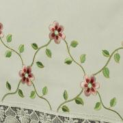 Toalha de Mesa com Bordado Richelieu Retangular 6 Lugares 160x220cm - Pauline Natural - Dui Design