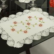 Jogo Americano 4 Lugares (4 peças) com Bordado Richelieu 35x50cm - Pauline Natural - Dui Design