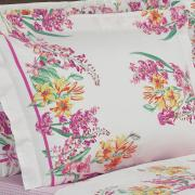 Jogo de Cama Queen Percal 180 fios - Perla Orquídea - Dui Design