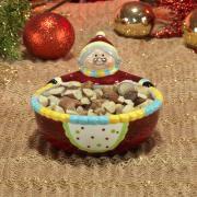 Petisqueira Natal de Cerâmica com 11,2cm de altura - Mamãe Noel - Dui Design