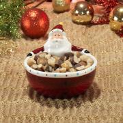 Petisqueira Natal de Cerâmica com 10,8cm de altura - Santa Claus - Dui Design