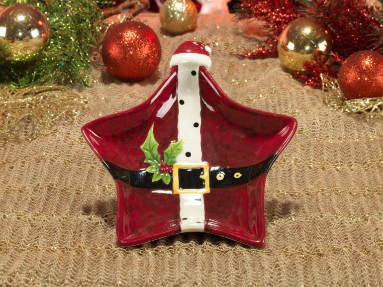 Petisqueira Natal de Cerâmica Estrela - Papai Noel 20x18,8cm - Dui Design