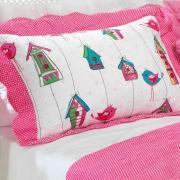 Kit: 1 Cobre-leito Solteiro Kids Bouti de Microfibra Ultrasonic Estampada + 1 Porta-travesseiro - Piby Rosa - Dui Design