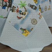 Kit: 1 Cobre-leito Casal Kids Bouti de Microfibra PatchWork Ultrasonic + 2 Porta-travesseiros - Pierre Multicor - Dui Design