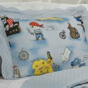 Kit: 1 Cobre-leito Solteiro Kids Bouti de Microfibra PatchWork Ultrasonic + 1 Porta-travesseiro - Pierre Multicor - Dui Design