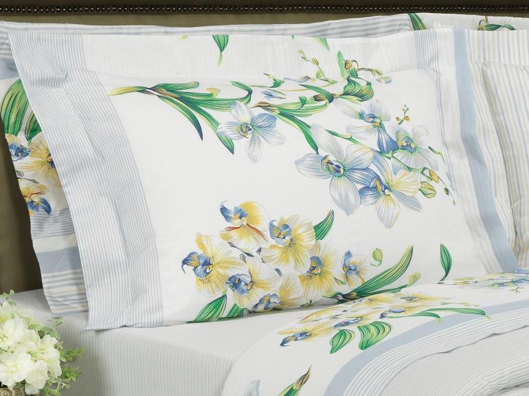 Edredom Solteiro Percal 180 fios - Pietra Azul - Dui Design