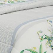 Jogo de Cama Casal Percal 180 fios - Pietra Azul - Dui Design