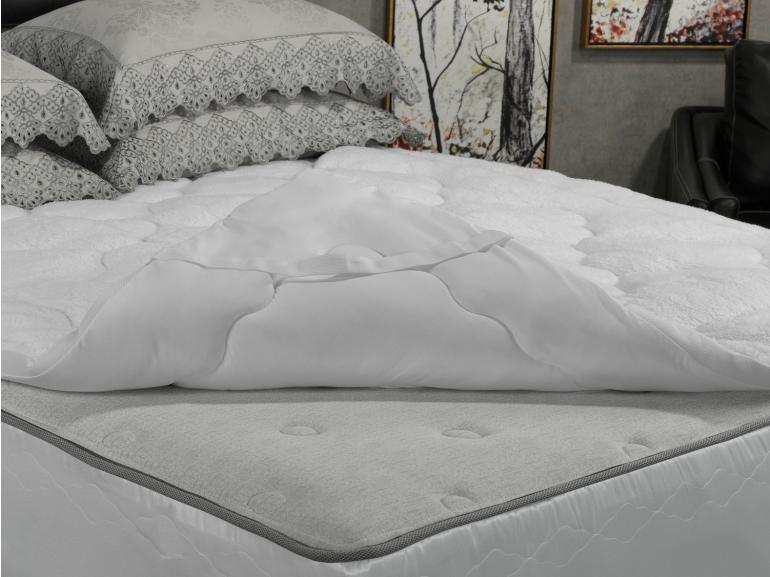 Pillow Top efeito Pele de Carneiro Casal Fibra Siliconizada Super Volumosa 600 gramas/m² - Sherpa - Dui Design